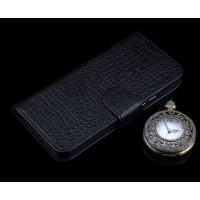 Кожаный чехол портмоне подставка (премиум нат. кожа крокодила) с крепежной застежкой для Lenovo K6