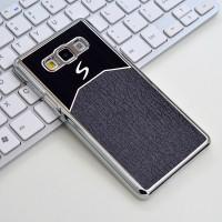 Пластиковый непрозрачный матовый чехол с текстурным покрытием Металл для Samsung Galaxy A7