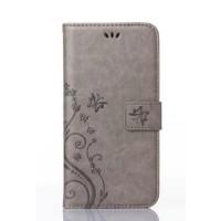 Чехол портмоне подставка текстура Узоры на силиконовой основе на магнитной защелке для Sony Xperia M2 dual