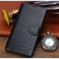 Кожаный чехол портмоне подставка (премиум нат. кожа) с крепежной застежкой для Sony Xperia M2 dual