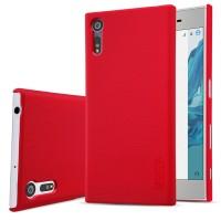 Пластиковый непрозрачный матовый нескользящий премиум чехол для Sony Xperia XZ