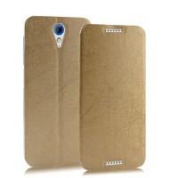 Чехол горизонтальная книжка подставка текстура Линии на пластиковой основе на присосках для HTC Desire 620