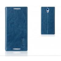 Глянцевый водоотталкивающий чехол горизонтальная книжка подставка на пластиковой основе на присосках для HTC Desire 620