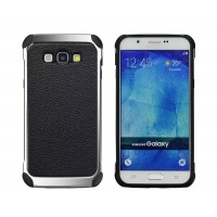 Силиконовый матовый непрозрачный чехол с нескользящими гранями и текстурным покрытием Кожа для Samsung J1