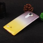 Силиконовый глянцевый полупрозрачный градиентный чехол для LG G4