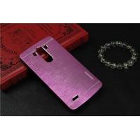 Пластиковый непрозрачный матовый металлик чехол для LG G4