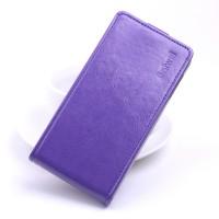 Глянцевый водоотталкивающий чехол вертикальная книжка на силиконовой основе на магнитной защелке для Xiaomi Mi Max Фиолетовый
