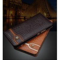 Кожаный чехол горизонтальная книжка (премиум нат. кожа крокодила) для Xiaomi Mi Max