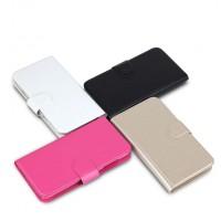 Чехол горизонтальная книжка на пластиковой основе с отсеком для карт на магнитной защелке для Sony Xperia C