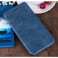 Винтажный чехол горизонтальная книжка подставка на силиконовой основе с отсеком для карт для Asus ZenFone 3 Laser  Синий