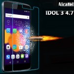 Ультратонкое износоустойчивое сколостойкое олеофобное защитное стекло-пленка для Alcatel One Touch Idol 3 (4.7)