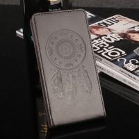 Глянцевый водоотталкивающий чехол вертикальная книжка текстура Ловец снов на силиконовой основе с отсеком для карт на магнитной защелке для Meizu U20 Черный