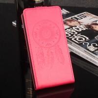 Глянцевый водоотталкивающий чехол вертикальная книжка текстура Ловец снов на силиконовой основе с отсеком для карт на магнитной защелке для Meizu U20 Розовый