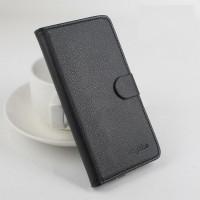 Чехол горизонтальная книжка подставка на пластиковой основе с отсеком для карт на магнитной защелке для Sony Xperia M2 dual