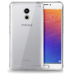 Силиконовый матовый транспарентный чехол для Meizu Pro 6