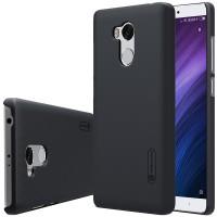 Пластиковый непрозрачный матовый чехол с повышенной шероховатостью для Xiaomi RedMi 4 Pro  Черный