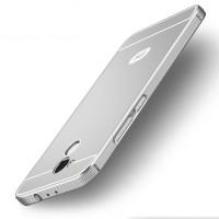 Двухкомпонентный чехол c металлическим бампером с поликарбонатной накладкой и отверстием для логотипа для Xiaomi RedMi 4 Pro  Серый