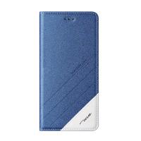 Чехол горизонтальная книжка подставка текстура Линии на силиконовой основе для Xiaomi RedMi 4 Pro  Синий