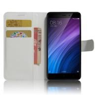 Чехол портмоне подставка на силиконовой основе с отсеком для карт на магнитной защелке для Xiaomi RedMi 4/4Pro Белый