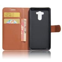 Чехол портмоне подставка на силиконовой основе с отсеком для карт на магнитной защелке для Xiaomi RedMi 4/4Pro Коричневый