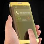Пластиковый непрозрачный матовый чехол с полупрозрачной крышкой с зеркальным покрытием для Samsung Galaxy J2 Prime