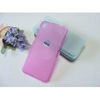 Силиконовый матовый полупрозрачный чехол для Alcatel Shine Lite Розовый
