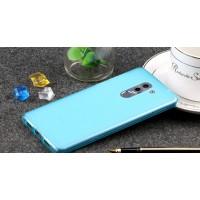 Силиконовый матовый полупрозрачный чехол для Huawei Honor 6X Голубой