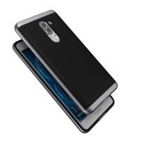 Силиконовый матовый непрозрачный чехол с поликарбонатным бампером для Huawei Honor 6X  Серый