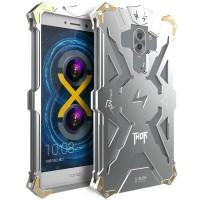 Цельнометаллический противоударный чехол из авиационного алюминия на винтах с мягкой внутренней защитной прослойкой для гаджета с прямым доступом к разъемам для Huawei Honor 6X