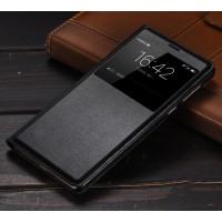 Чехол горизонтальная книжка на пластиковой основе с окном вызова для Huawei Honor 6X  Черный
