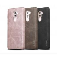 Чехол накладка текстурная отделка Кожа для Huawei Honor 6X
