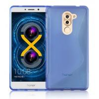 Силиконовый матовый полупрозрачный чехол с нескользящими гранями и дизайнерской текстурой S для Huawei Honor 6X