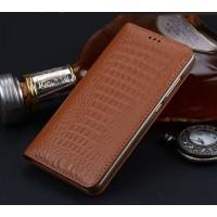 Кожаный чехол горизонтальная книжка (премиум нат. кожа крокодила) для Huawei Honor 6X