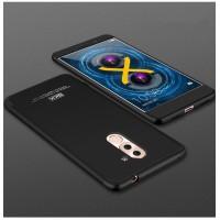 Пластиковый непрозрачный матовый чехол сборного типа для Huawei Honor 6X  Черный