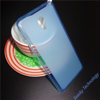 Силиконовый матовый полупрозрачный чехол для Meizu M5 Note  Голубой