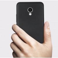 Силиконовый матовый непрозрачный чехол для Meizu M5 Note