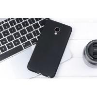 Силиконовый матовый непрозрачный чехол для Meizu M5 Note  Черный