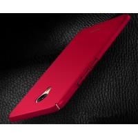 Пластиковый непрозрачный матовый чехол с улучшенной защитой элементов корпуса для Meizu M5 Note  Красный