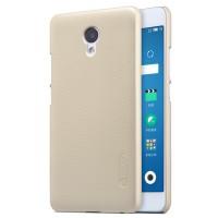 Пластиковый непрозрачный матовый нескользящий премиум чехол для Meizu M5 Note  Бежевый