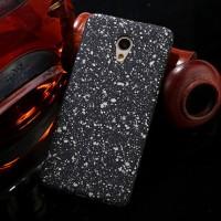 Пластиковый непрозрачный матовый чехол с голографическим принтом Звезды для Meizu M5 Note  Серый