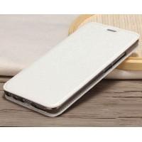 Чехол горизонтальная книжка подставка текстура Золото на силиконовой основе для Meizu M5 Note  Белый