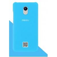 Оригинальный пластиковый непрозрачный матовый чехол для Meizu M5 Note  Голубой