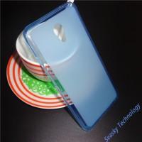 Силиконовый матовый полупрозрачный чехол для Meizu M5  Голубой