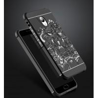 Силиконовый матовый непрозрачный чехол с текстурным покрытием Дракон для Meizu M5