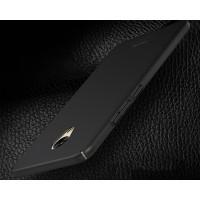 Пластиковый непрозрачный матовый чехол с улучшенной защитой элементов корпуса для Meizu M5  Черный