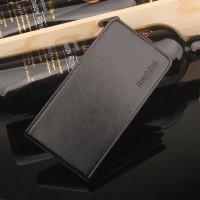 Глянцевый водоотталкивающий чехол вертикальная книжка на силиконовой основе на магнитной защелке для Meizu M5 Черный