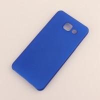 Пластиковый непрозрачный матовый чехол для Samsung Galaxy A3 (2016) Синий