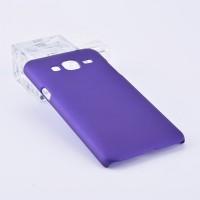 Пластиковый непрозрачный матовый чехол для Samsung Galaxy J3 (2016) Фиолетовый