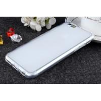 Силиконовый матовый полупрозрачный чехол для Iphone 6/6s  Белый