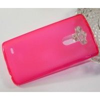 Силиконовый матовый полупрозрачный чехол для LG G3 (Dual-LTE) Розовый